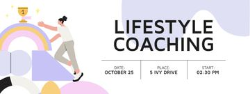 Lifestyle Coaching Event with Woman reaching Cup