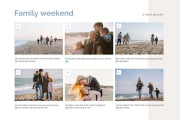 Happy Family on Weekend by the Sea
