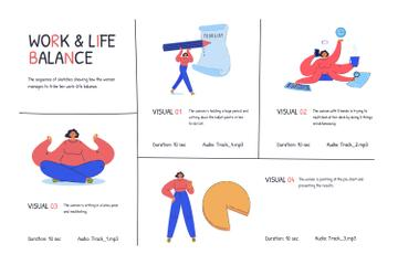 Illustrations of Work and Life balance
