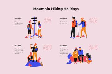 Couple Hiking in mountains