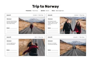 Couple travelling on Road in Norway