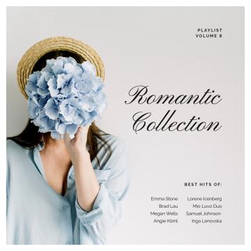 Romantic Girl holding Flower