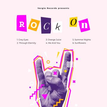 Hand showing Rock gesture