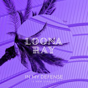 Palm tree in Purple