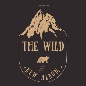 Wild Bear and Mountains illustration