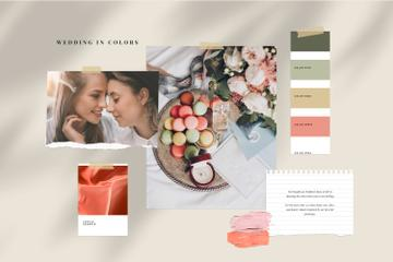 Tender colors Palette for Wedding