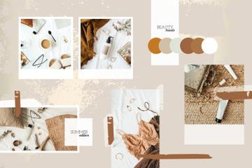 Summer Beauty and Accessories in natural colors