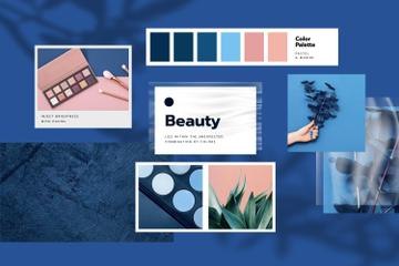 Cosmetics Palette in blue colors