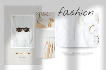 Summer Clothes and Accessories in natural colors