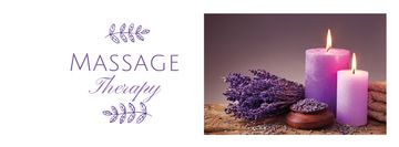 Massage Therapy Services with Purple Candles