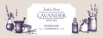 Homemade Cosmetics Ad with Purple Lavender