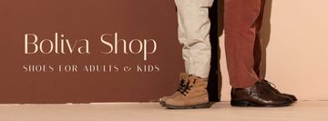 Shop Ad with Male Shoes