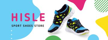 Sale Offer with Pair of athletic Shoes