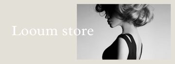 Fashion Store Ad with Attractive Woman