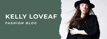 Fashion blog ad with Stylish Woman