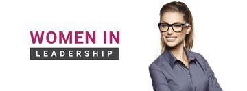 Business Event Announcement Smiling Businesswoman