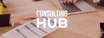 Consulting Services with Woman holding contract