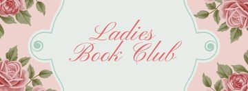 Book Club Meeting announcement with roses