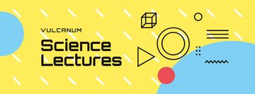Scientific Event Announcement Geometric Pattern in Yellow