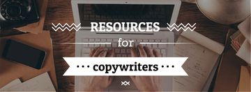 Recourses for Copywriters with Laptop at Workplace