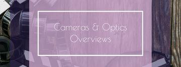Vintage Film Cameras on Wooden Board