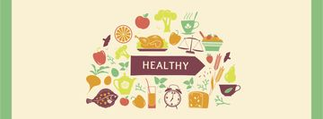 Healthy Lifestyle Attributes Icons