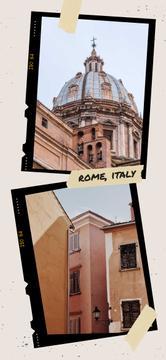 Rome old buildings view