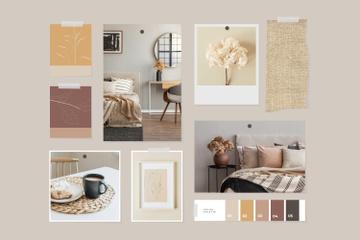 Cozy interior in natural colors