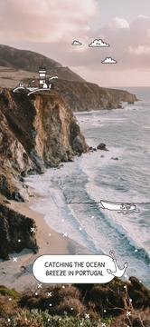 Scenic seacoast in Portugal