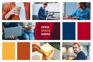 People in Colorful Coworking Space