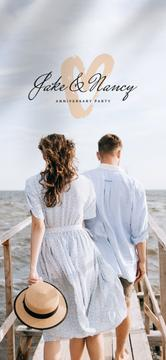 Anniversary Party with Romantic Couple by sea