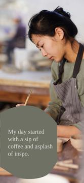 Woman Creating at Pottery