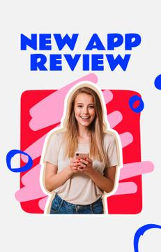 Blogger reviewing new App