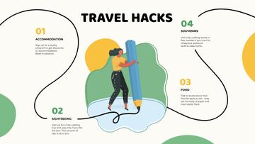 Travel Hacks with Woman drawing