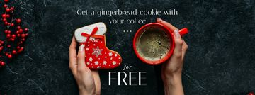 Christmas Offer Coffee Cup and Gingerbread