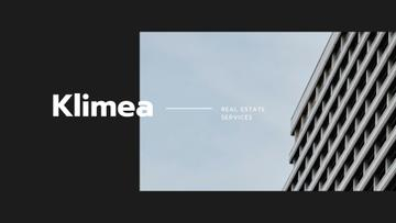 Real Estate Ad with Modern Glass Houses
