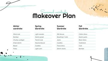 Fashion Wardrobe Makeover plan