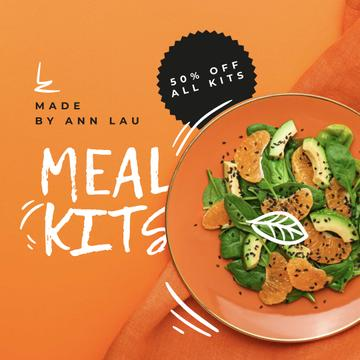 Meal Kits ad with Healthy Salad