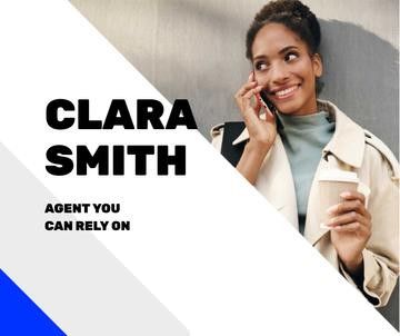 Real Estate Agent talking on Phone