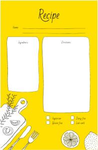 Recipe Card 5.5 × 8.5 in