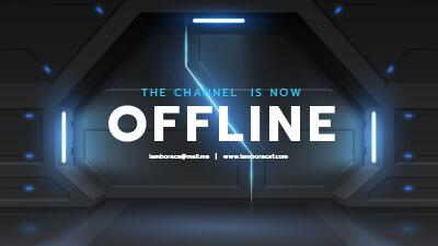 Twitch Offline Banner 1920 × 1080 px