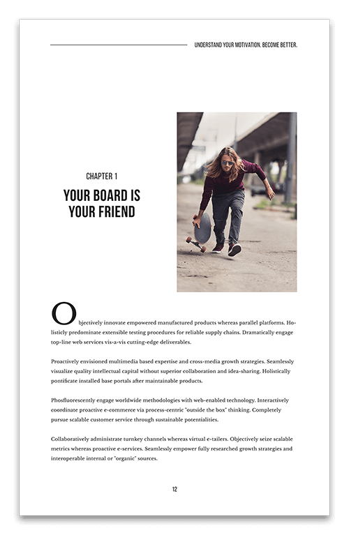 Skateboarding page four